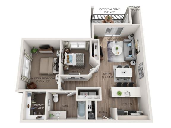 paradise floorplan dimensioned