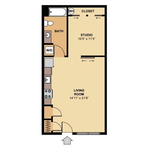Floor Plan  cherry 2d colorized floor plan