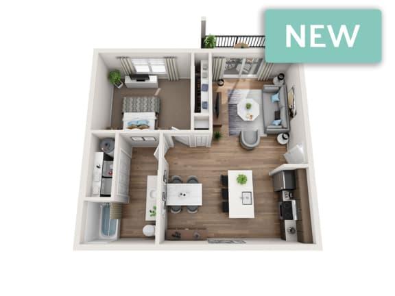 Floor Plan  Winthrop II 3D floorplan