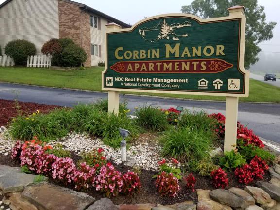 Monument Sign at Corbin Manor Corbin, Kentucky