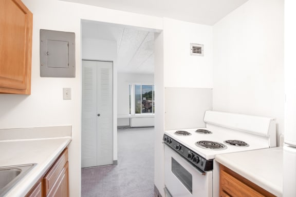 Apartment kitchen at Bridgeville Tower Bridgeville, Pennsylvania