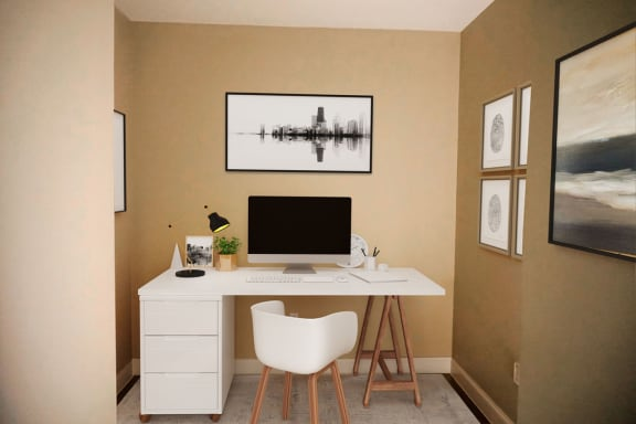 1 Bedroom with study