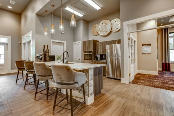 Beautiful Clubhouse Dining Room at The Waverly Apartment Homes, Burleson, Texas, 76028