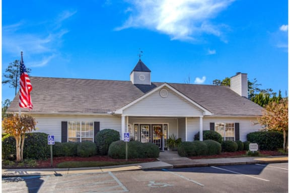 Leasing Office Exterior at The Woodlands Apartment Homes, Meridian, Mississippi, 39301