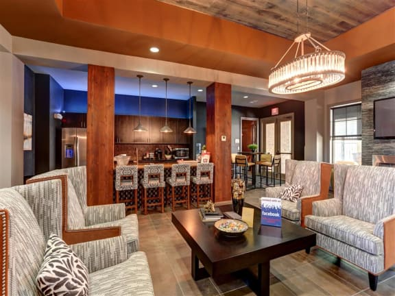Clubhouse Interior at Faulkner Flats Apartment Homes, Oxford, MS,