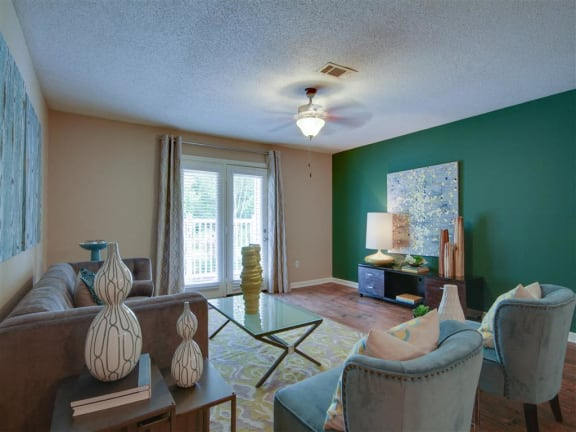 Living Room with a View at Avalon Apartment Homes, Starkville, Mississippi, 39759