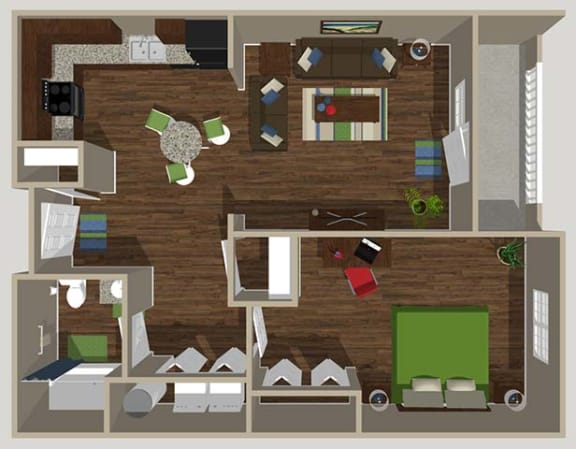Floor Plan  1B Bedroom