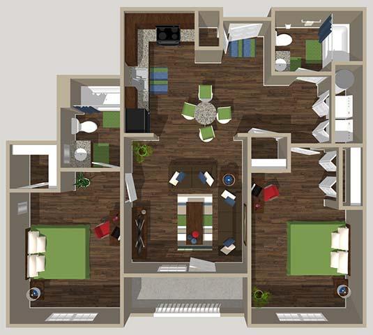 Floor Plan  2B Bedroom