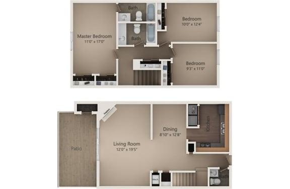 Floor Plan  The Pine Townhome