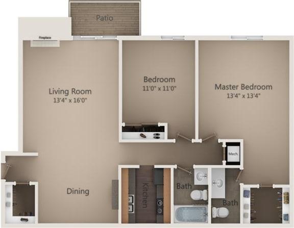 Floor Plan  The Pine Oak