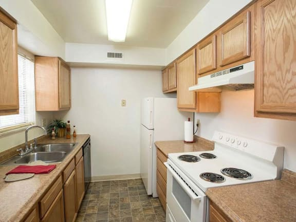 Updated, spacious kitchen at Ole Towne Apartments in Middletown, OH