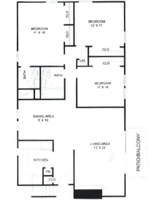 3 Bedroom, 2 Bathroom at Olde Towne Apartments in Middletown, OH