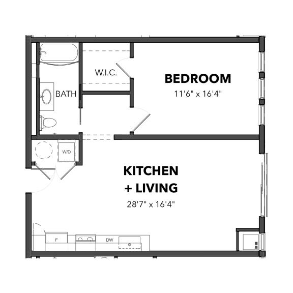 Floor Plan  Bakery Living One Bedroom 5, apartments in Pittsburgh, PA 15206