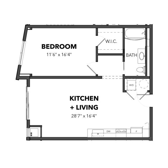 Floor Plan  Bakery Living One Bedroom 6, apartments in Pittsburgh, PA