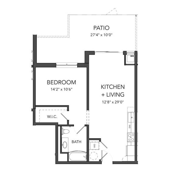 Floor Plan  Bakery Living One Bedroom 9, apartments in Pittsburgh, Pennsylvania