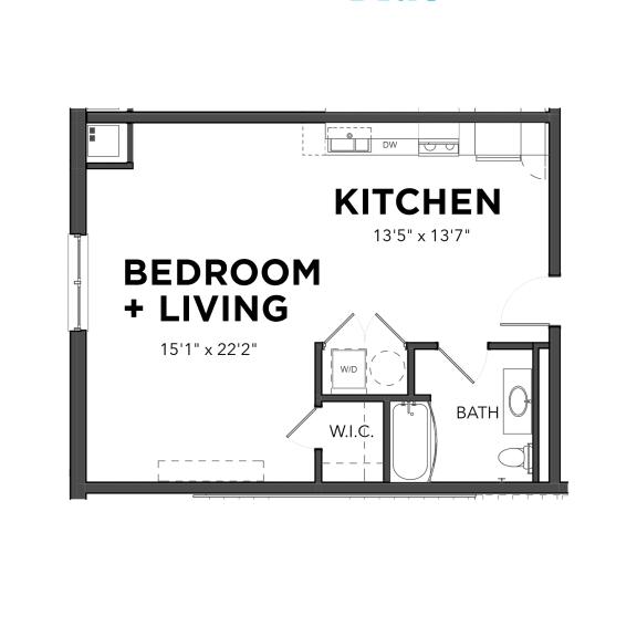 Floor Plan  Bakery Living Micro 3, apartments in Pittsburgh, Pennsylvania