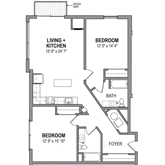 Floor Plan  FloorPlans-Foundry-Iron-L The Foundry at 41st Apartments, Lawrenceville, Pittsburgh, PA