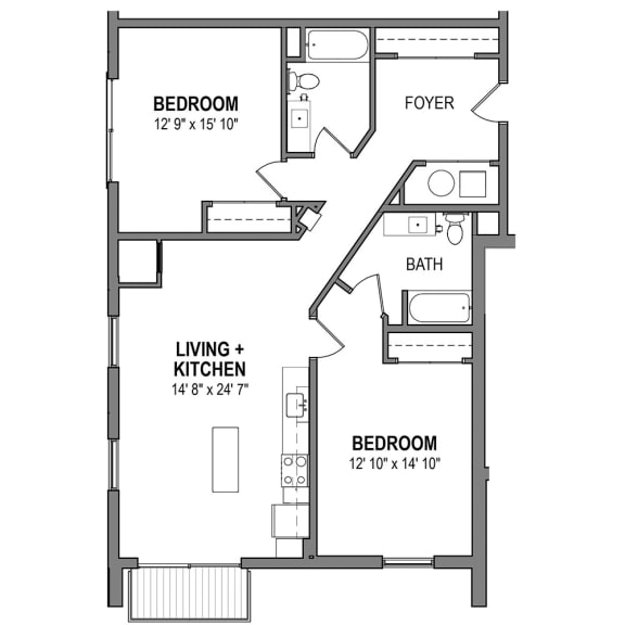 Floor Plan  FloorPlans-Foundry-Iron-R The Foundry at 41st Apartments, Lawrenceville, Pittsburgh, PA
