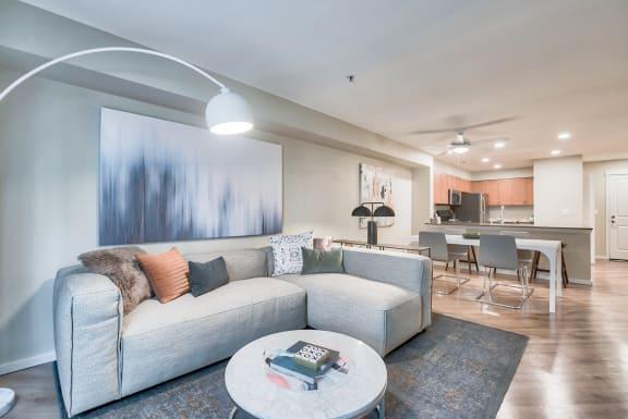 Open layout design at Tera Apartments, WA, 98033