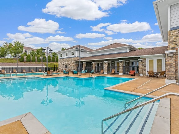 Glimmering Pool at Hickory Point Apartments, Nashville, TN, 37211