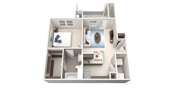 Floor Plan  A1 Floor Plan at Ethos Apartments, Austin, Texas