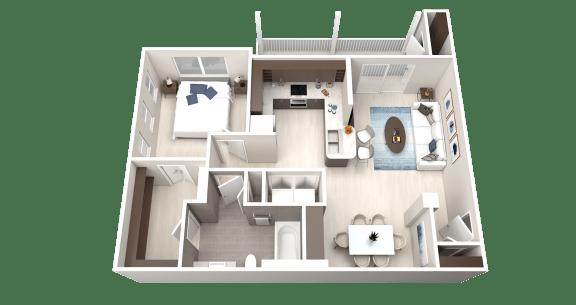 Floor Plan  A2 Floor Plan at Ethos Apartments, Austin