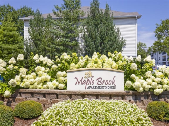 Welcoming Property Signage at Maple Brook Apartments, Louisville