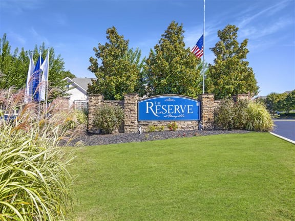 Elegant Entry Signage at The Reserve at Maryville, Maryville