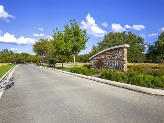 Welcoming Property Signage at Ranch 123, Seguin, TX