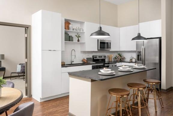 model kitchen at Santos Flats Apartment Homes, Tampa