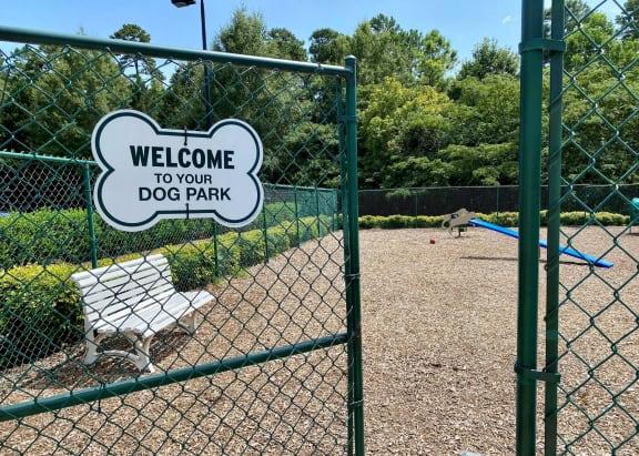 Dog Park Entrance Alden Place at South Square Durham NC 27707