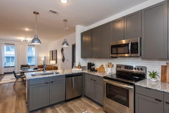 Jamestown kitchen and den  Jamestown Apartment Flats Richmond VA 23224