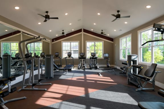 Cardio Machines In Gym at Lullwater at Jennings Mill, Georgia