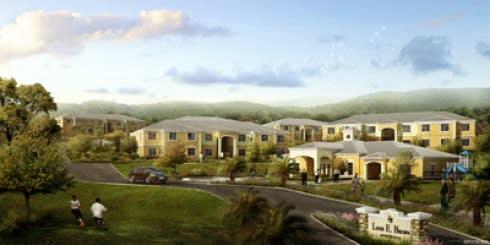 Rendering of apartment buildings exterior-Louis E. Brown Senior Villas, St Croix 00820, U.S. Virgin Islands