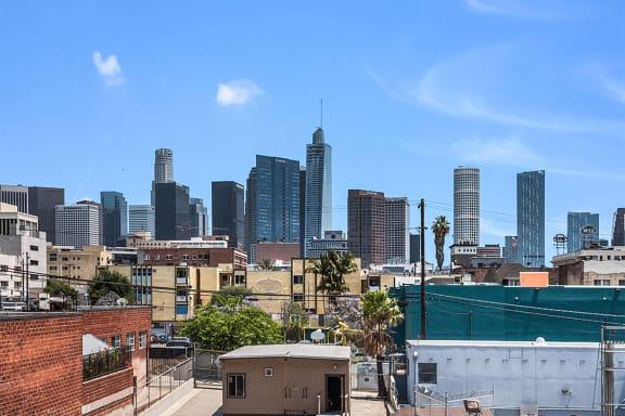 Balcony view of the city-MacArthur Park Apartments, Los Angeles, CA