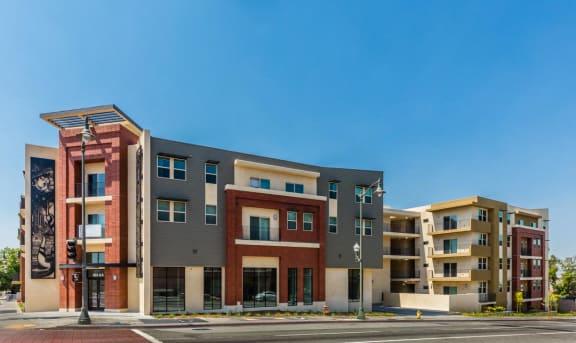 Exterior apartment building-Santa Cecilia Apartments, Los Angeles CA