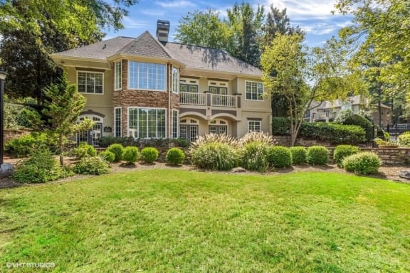 Lush Green Landscaping at Wynfield Trace, Peachtree Corners, GA