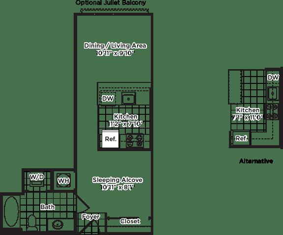 Floor Plan  s02m (Income Restricted, ADU Program)
