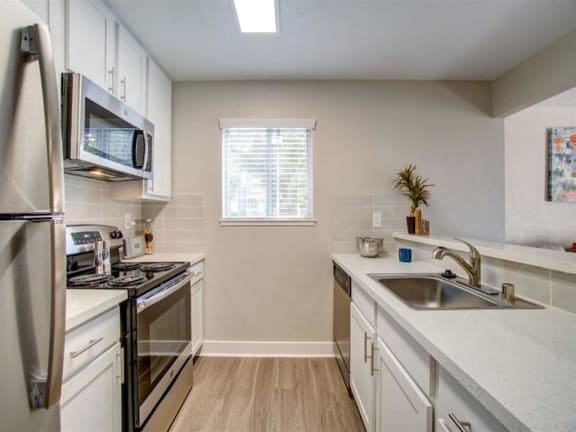 Apartments in San Jose - Terra House Remodeled Kitchen with Quartz Countertops