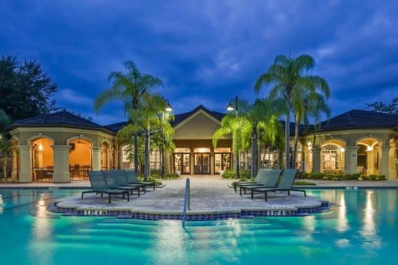 Resort Style Swimming Pool  at The Grand Reserve at Tampa Palms Apartments, Tampa, FL, 33647