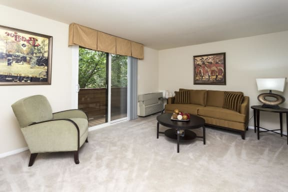 Living Room at The Birches Apartments, MD 20904
