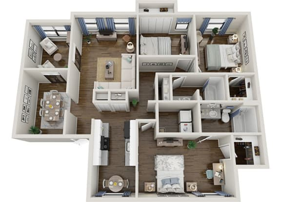 Floor Plan  dogwood 3x2 1583 sf