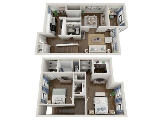Floor Plan  magnolia 2x1 1394 sf