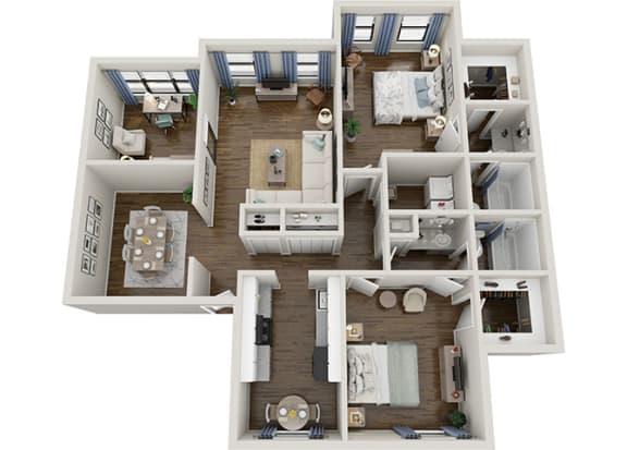 Floor Plan  maple 2x2 1400 sf