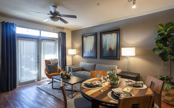Dining Area With Living Room View at City Lake, Texas