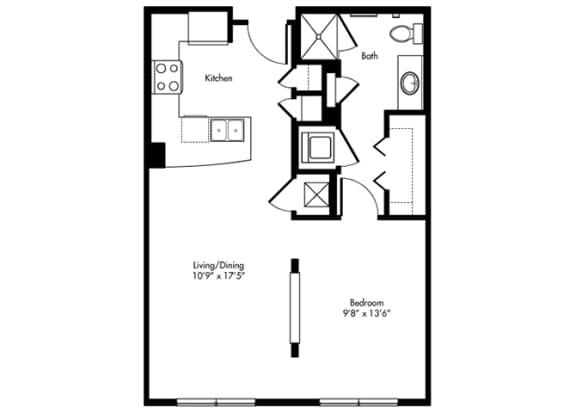 Floor Plan  murphy studio 640 sf at City Lake, Texas
