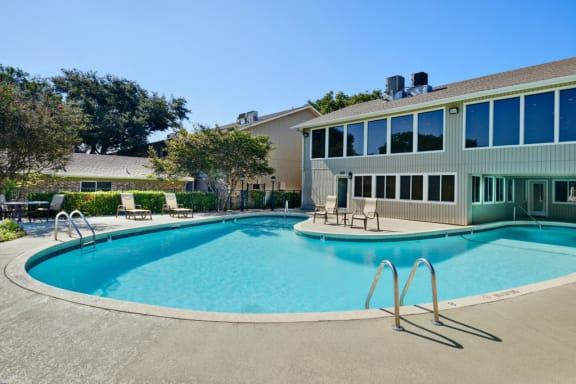 Sparkling resort-style pool at Juniper Springs, 3500 Greystone Drive