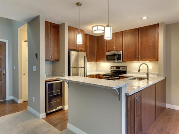 MacLaren Hill Apartments in St. Paul, MN Kitchen Granite Countertops