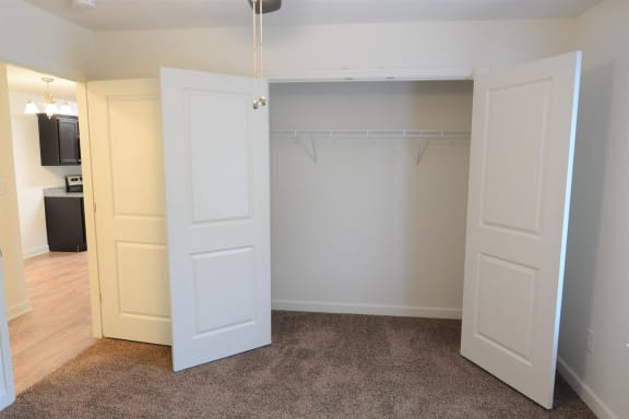 Generous Walk-In Closets With Shelving at Shenandoah Properties, Lafayette, IN