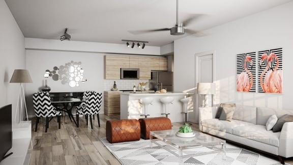 Apartment Living Room & Kitchen